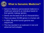 what is genomic medicine
