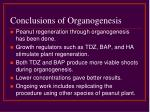 conclusions of organogenesis