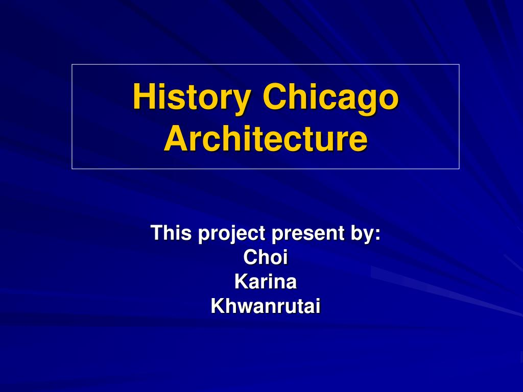 history chicago architecture l.