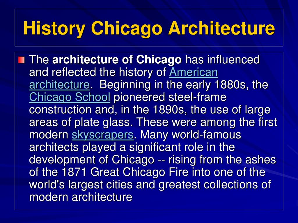 History Chicago Architecture