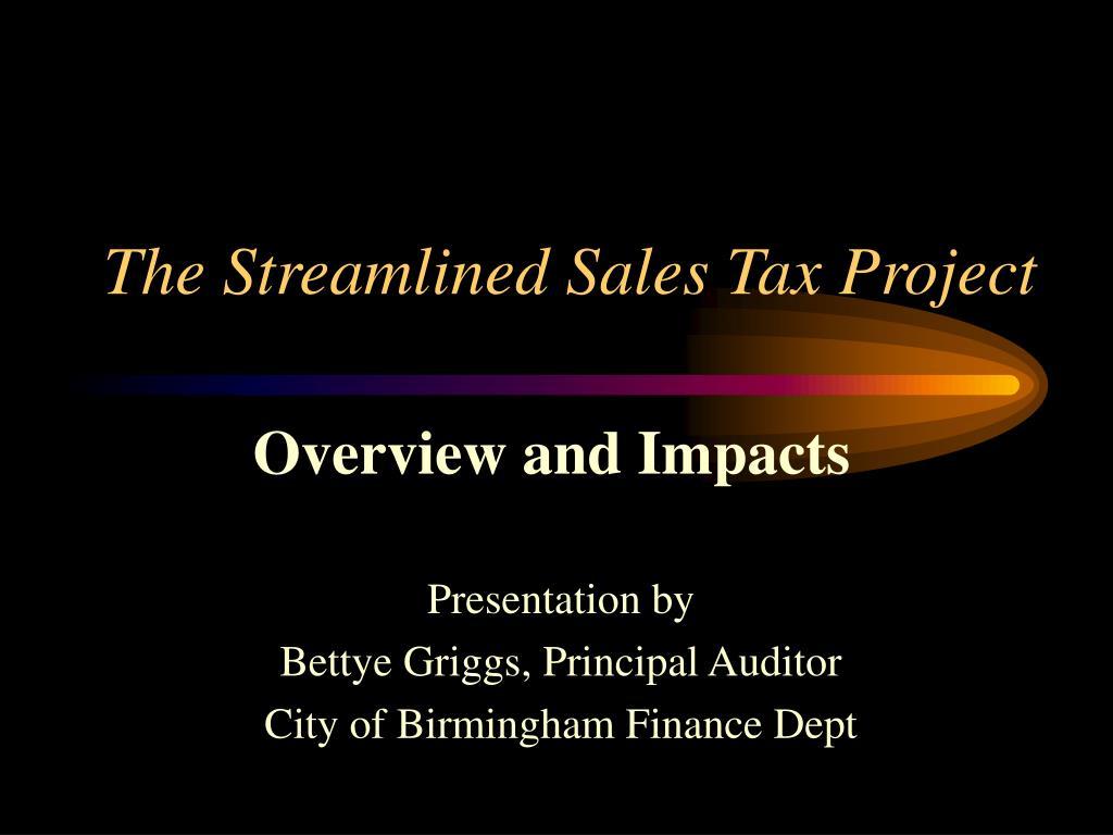 the streamlined sales tax project l.