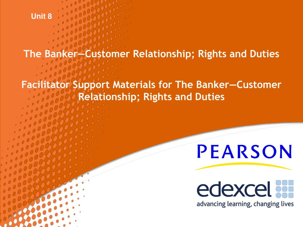 the banker customer relationship rights and duties l.