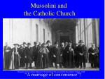 mussolini and the catholic church