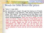 words for john bosco the priest