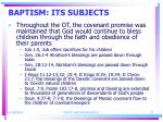 baptism its subjects