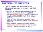 baptism its subjects23
