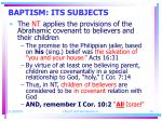 baptism its subjects24