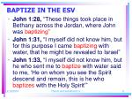 baptize in the esv11