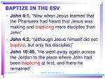 baptize in the esv13