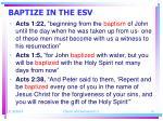 baptize in the esv14