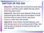 baptize in the esv15