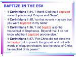baptize in the esv22