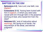baptize in the esv24