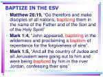 baptize in the esv5