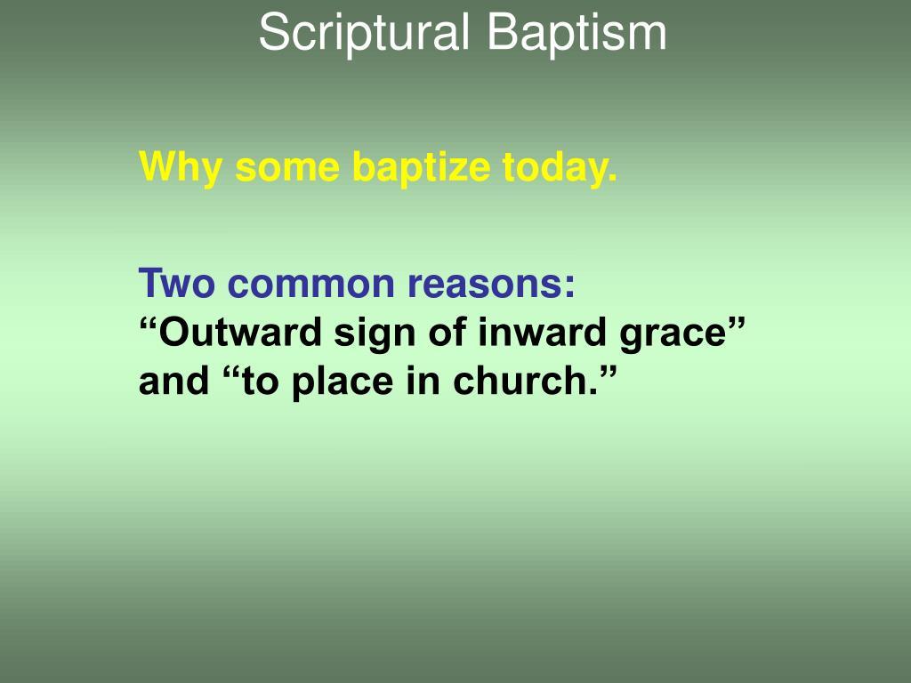 Scriptural Baptism