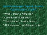 spoken languages tagalog ilocano kapampangan english