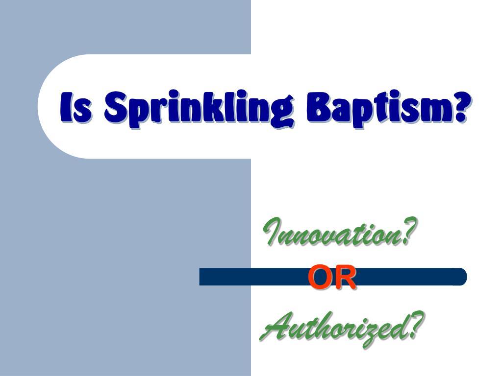 is sprinkling baptism l.