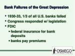 bank failures of the great depression