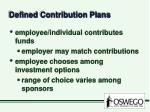 defined contribution plans