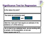 significance test for regression