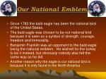 our national emblem