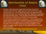 spirituality of eagles cont
