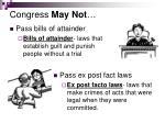 congress may not27