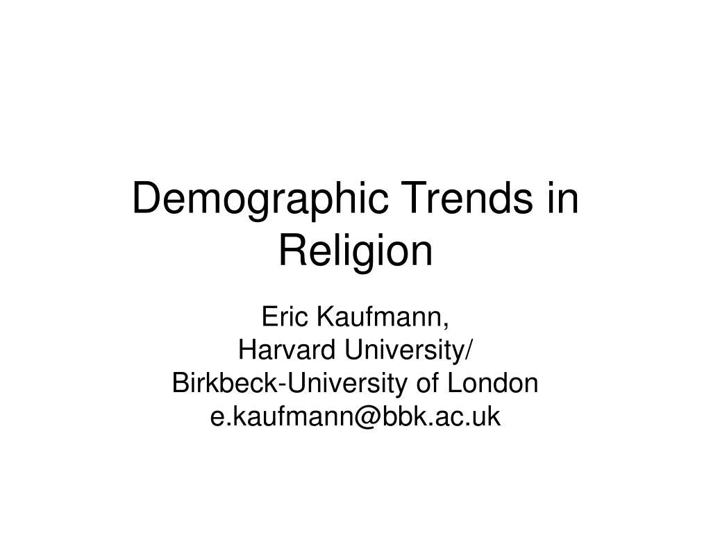 demographic trends in religion l.