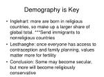 demography is key