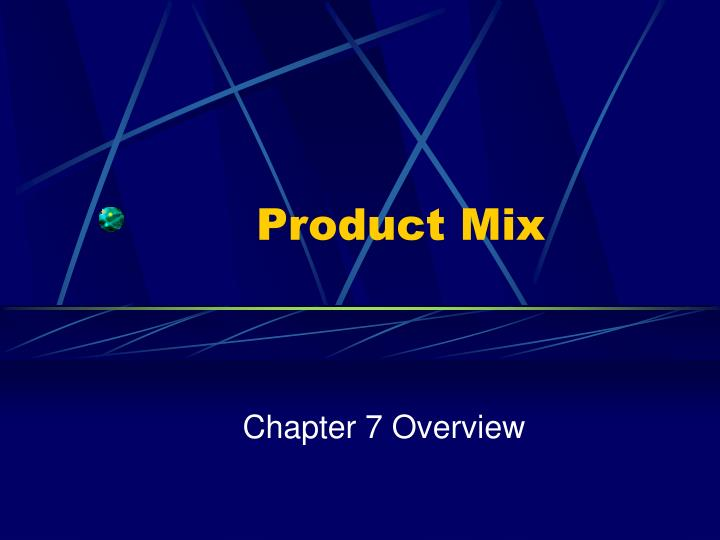 product mix n.