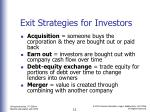 exit strategies for investors