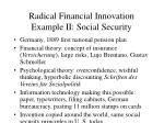 radical financial innovation example ii social security