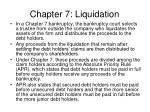 chapter 7 liquidation
