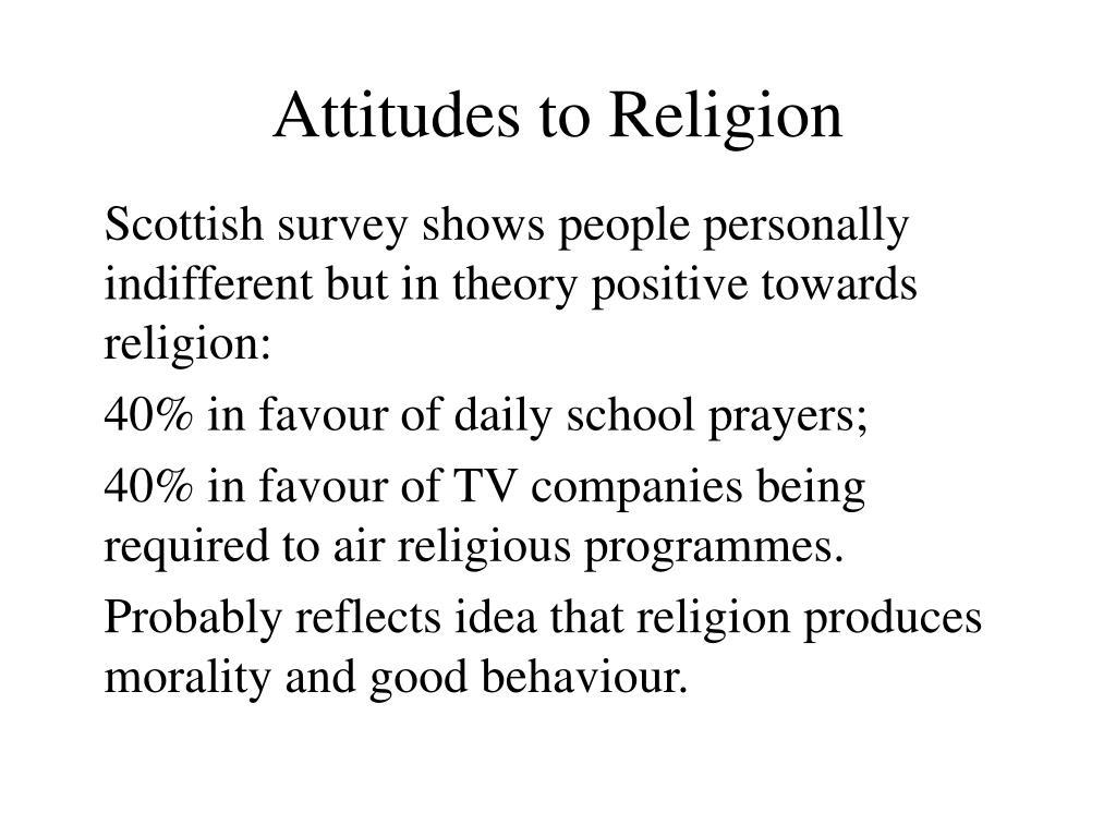 Attitudes to Religion