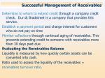 successful management of receivables