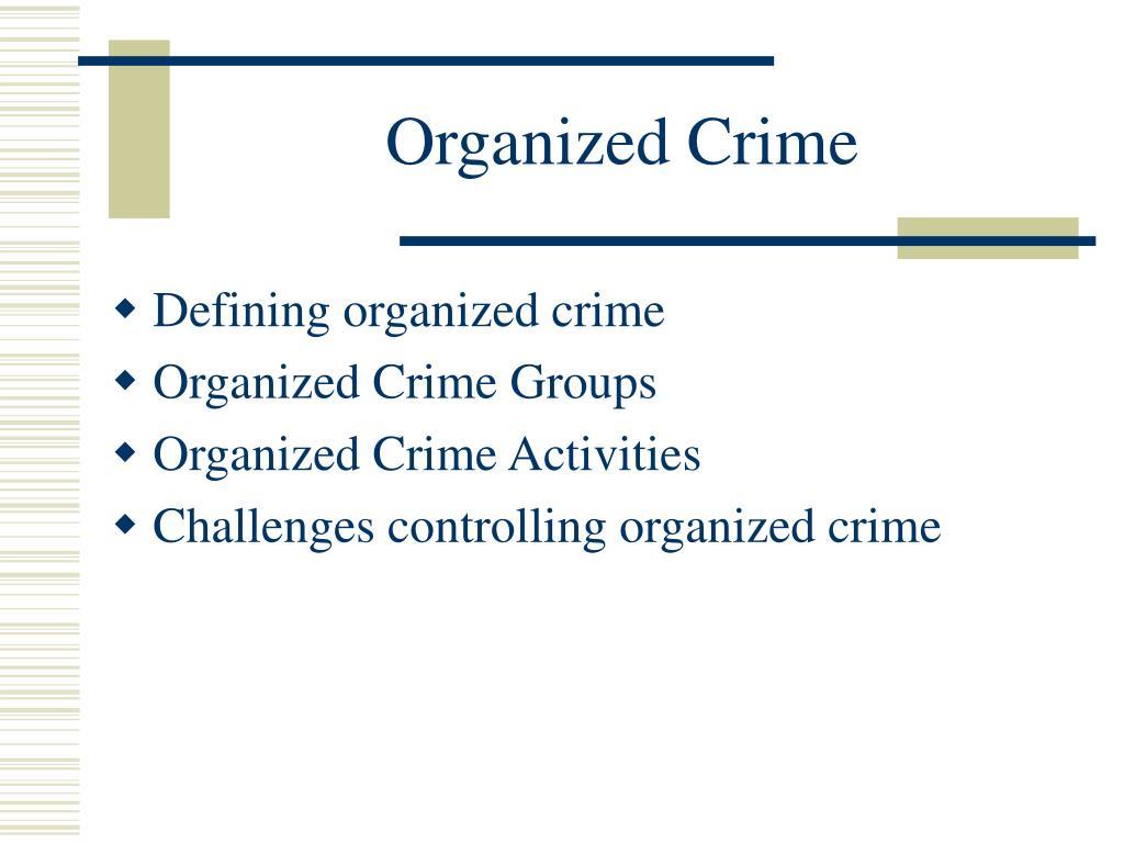 organized crime l.