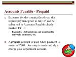 accounts payable prepaid