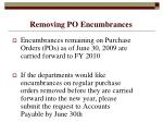 removing po encumbrances