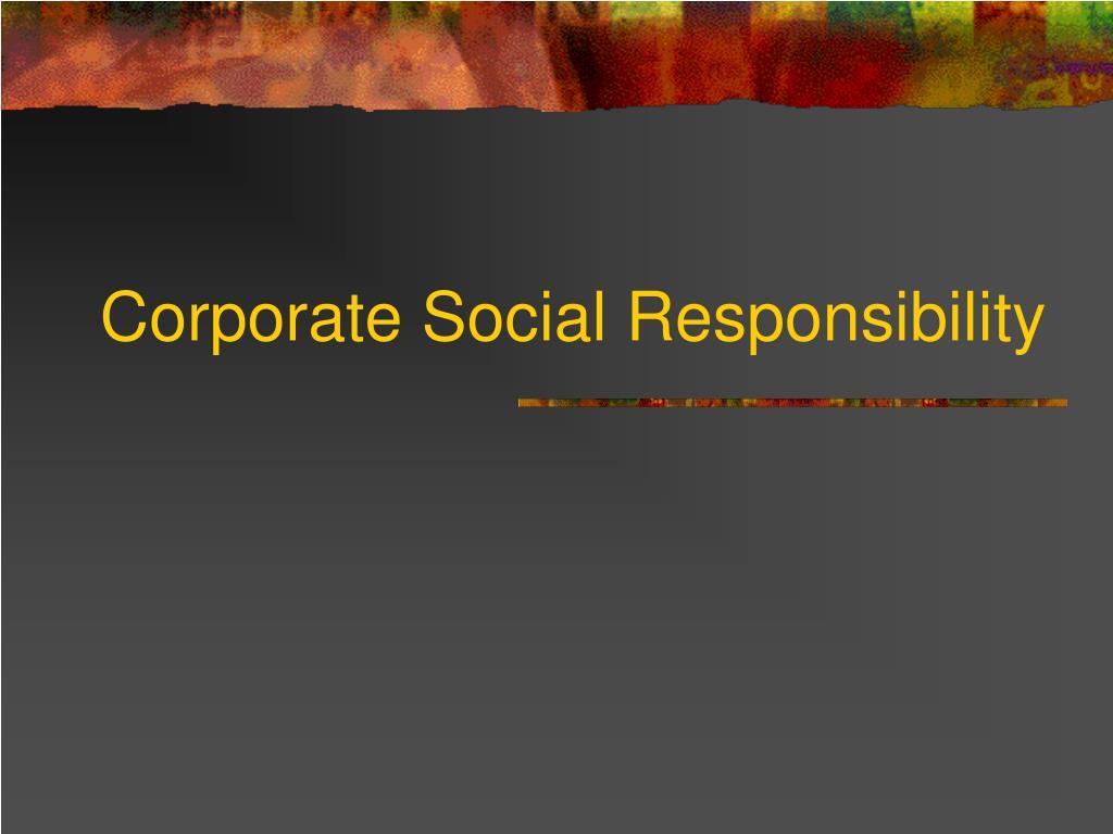 corporate social responsibility l.