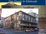 glas church in edinburgh