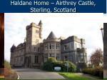 haldane home airthrey castle sterling scotland