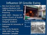 influence of greville ewing