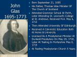 john glas 1695 1773