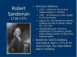 robert sandeman 1718 177178