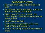 sandeman s views