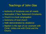 teachings of john glas