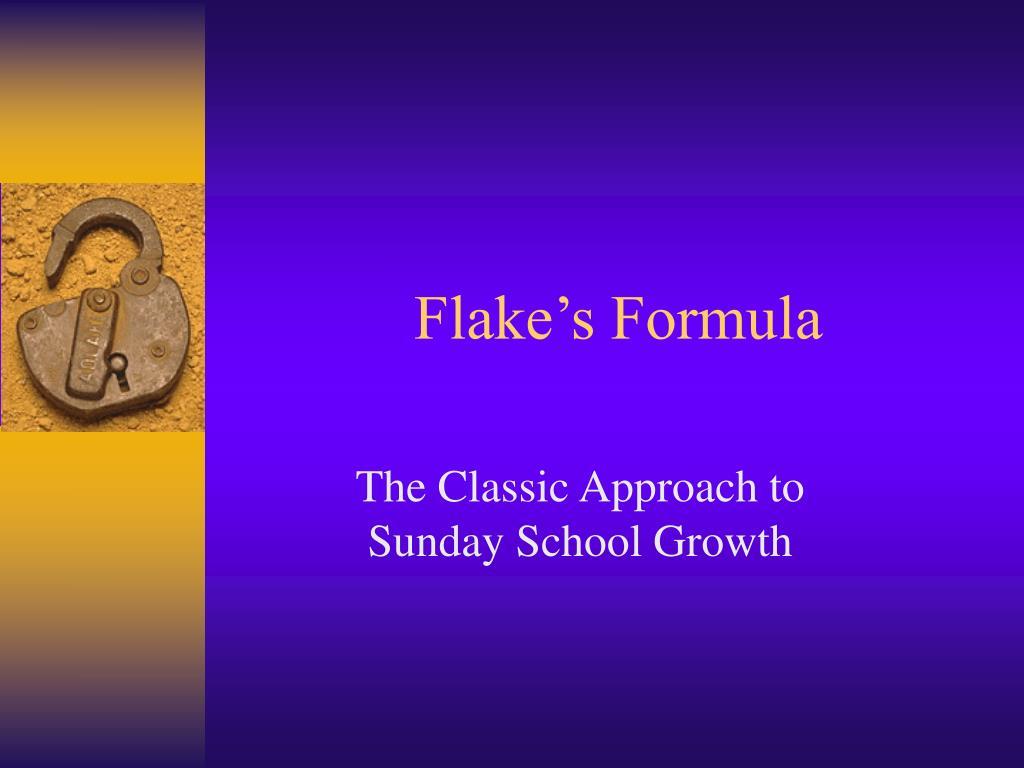 flake s formula l.