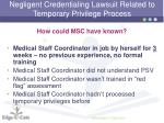 negligent credentialing lawsuit related to temporary privilege process8