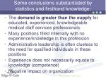 some conclusions substantiated by statistics and firsthand knowledge