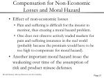 compensation for non economic losses and moral hazard21